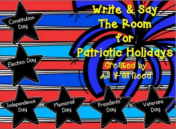 Write and Say the Room: Patriotic Holidays