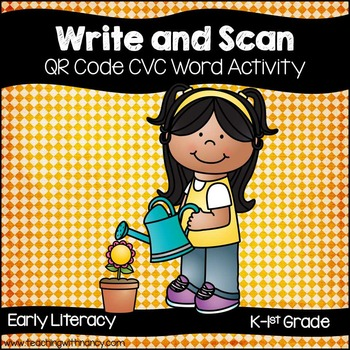 Write and Scan the Room (Short Vowel CVC Words QR Code Activity)