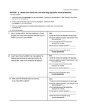 2 Write and Solve 1 and 2 step equations guided notes