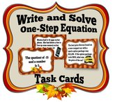 Write and Solve One-Step Equations Task Cards