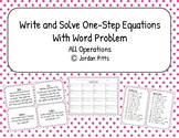 Write and Solve One-Step Equations with Word Problems