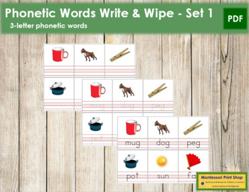 Write and Wipe: 3 Letter Words