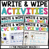 Write and Wipe Activity Mat BUNDLE - Includes CVC, Long Vo