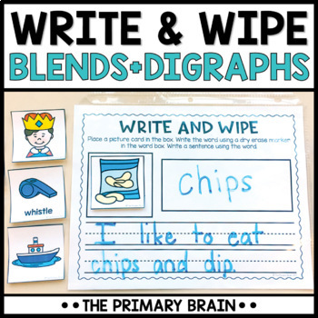 Write and Wipe Activity Mat BUNDLE - Includes CVC, Long Vowels, Blends, Digraphs