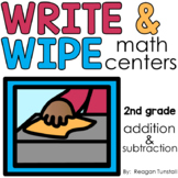 Write and Wipe Addition and Subtraction Second Grade