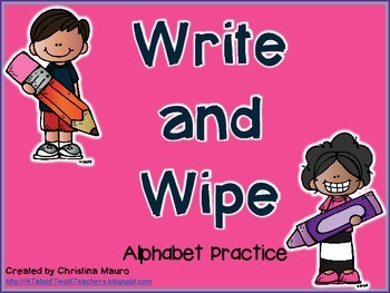 Write and Wipe - Alphabet