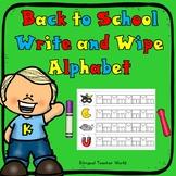 Write and Wipe Alphabet Mats