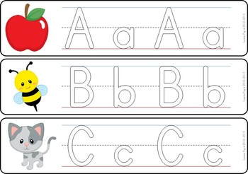 Write and Wipe - Alphabet with Handwriting Lines