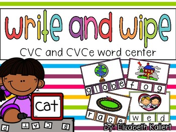 Write and Wipe: CVC and CVCe word center