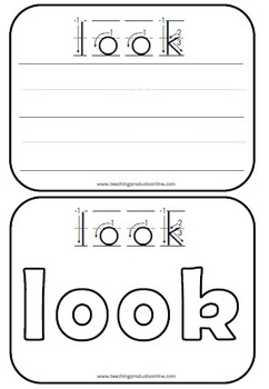 Write and Wipe Cards - Sight Words