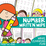 Number Writing Activities - Write and Wipe Cards and Boards