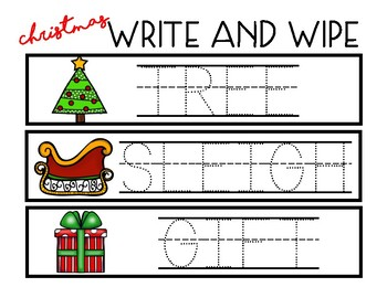 Write and Wipe - Christmas Words