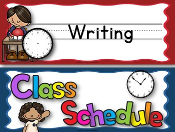 Write and Wipe Classroom Schedule Cards For Boards and Pocket Charts
