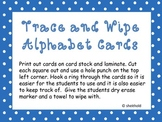 Write and Wipe Dotted Alphabet Cards