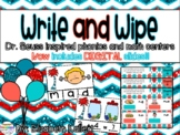 Write and Wipe: Dr. Seuss inspired CVC word center