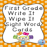 Write and Wipe First Grade Sight Words