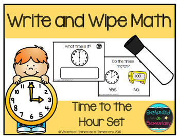 Write and Wipe Math: Time to the Hour Set