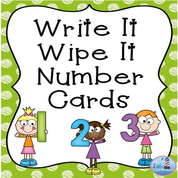 Write and Wipe  Number Cards (0-20)