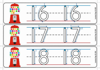Write and Wipe Numbers with Correct Number Formation