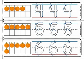 Write and Wipe Numbers with Correct Number Formation PUMPKINS