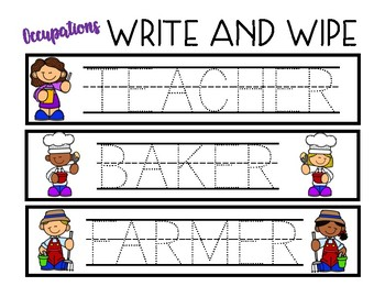 Write and Wipe - Occupations
