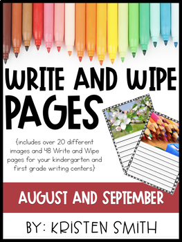 Write and Wipe Pages- August and September