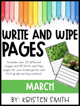 Write and Wipe Pages- March