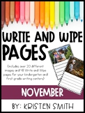 Write and Wipe Pages- November