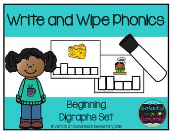 Write and Wipe Phonics: Beginning Digraphs Set