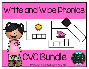 Write and Wipe Phonics: CVC Bundle
