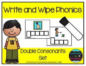 Write and Wipe Phonics: Double Consonants Set