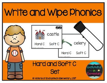 Write and Wipe Phonics: Hard and Soft C Set
