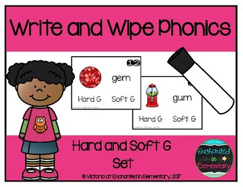 Write and Wipe Phonics: Hard and Soft G Set