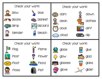Write and Wipe Phonics: L-Blends Set