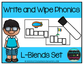 Write and Wipe Phonics: L-Blends Set