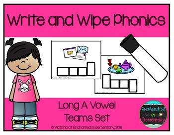 Write and Wipe Phonics: Long A Vowel Teams Set