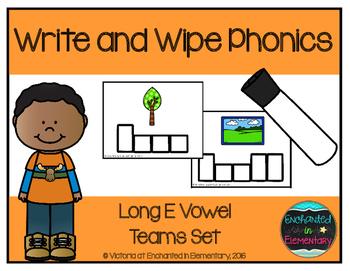 Write and Wipe Phonics: Long E Vowel Teams Set