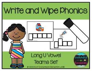 Write and Wipe Phonics: Long U Vowel Teams Set
