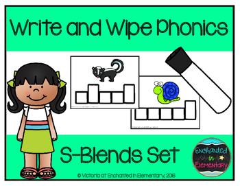 Write and Wipe Phonics: S-Blends Set