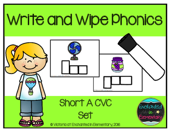 Write and Wipe Phonics: Short A CVC Set