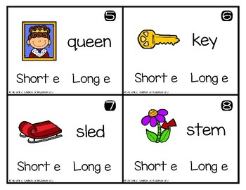 Write and Wipe Phonics: Short and Long E Set