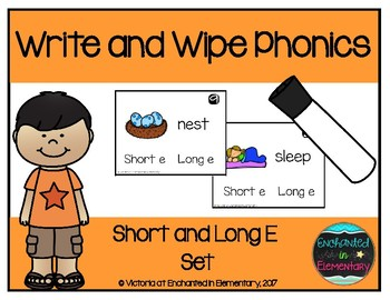 Write and Wipe Phonics: Short and Long E Set