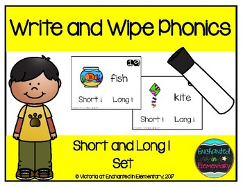 Write and Wipe Phonics: Short and Long I Set