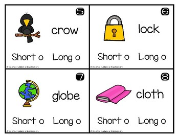 Write and Wipe Phonics: Short and Long O Set