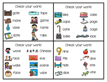 Write and Wipe Phonics: Silent e Set
