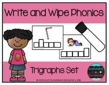 Write and Wipe Phonics: Trigraphs Set