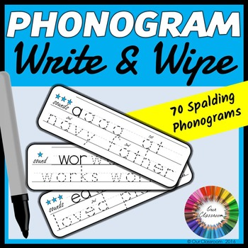Spalding Phonogram Write and Wipe Cards