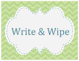 Write and Wipe-Picture Story Starters