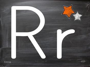 Wipe Clean and Playdoh Mats - Chalkboard Alphabet