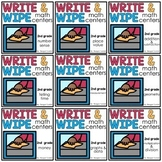 Write and Wipe Math Centers Second Grade Bundle
